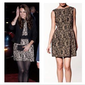 Zara Woman Lace Overlay Tulip Dress - Size XS